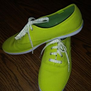 Lime green Keds sneakers size 9
